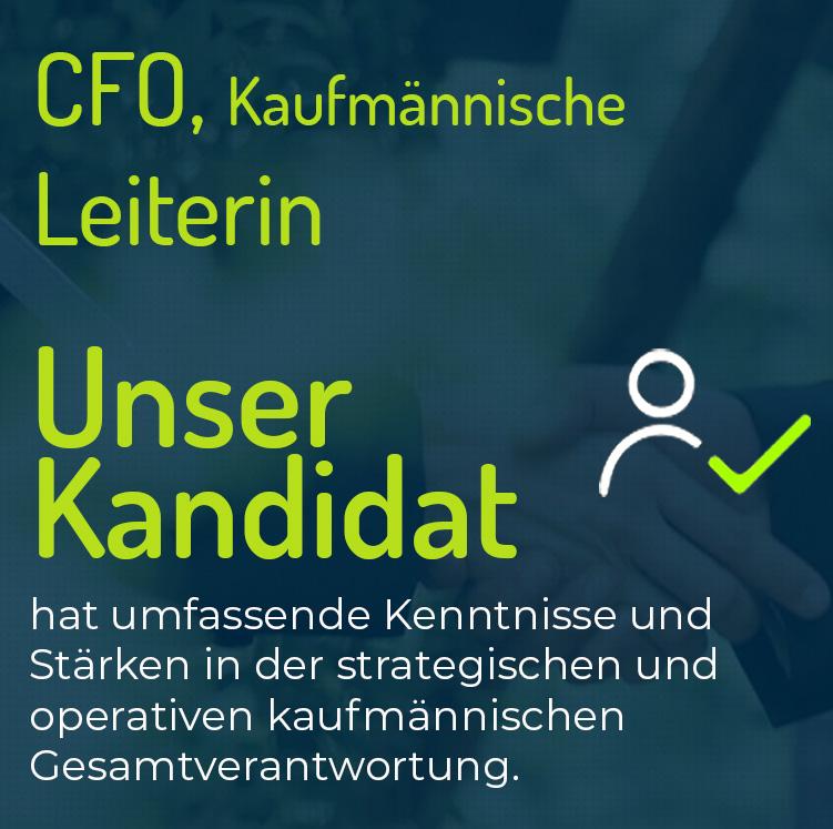 CFO, Kaufmännische Leiterin