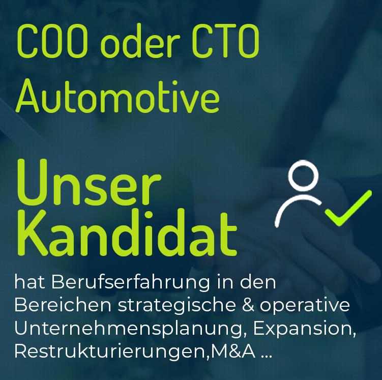 COO oder CTO Automotive
