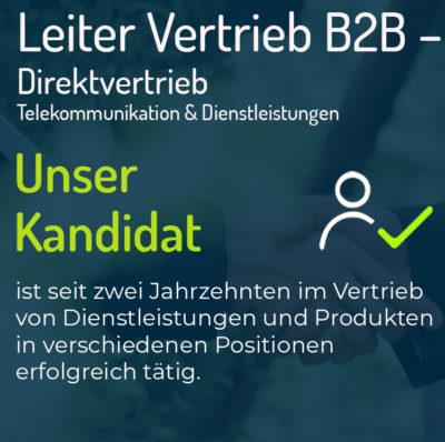 Leiter Vertrieb B2B